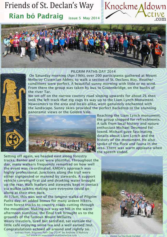 Knockmealdown Active - Friends of St. Declan's Way Ezine May 2014