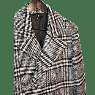 giacca uomo scacchi bianca e nera