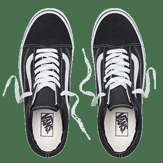 scarpe Vans classiche fotografate dall'alto