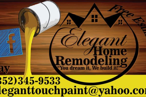 Elegant Home Remodeling Logo, Business Cards & Website
