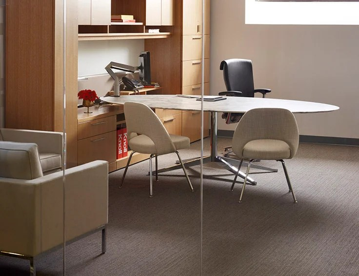 knoll pollock chair renting folding chairs florence table desk  
