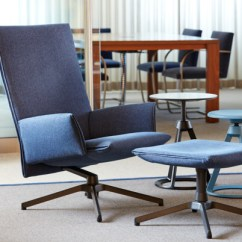 Swivel Chair And Ottoman For Office Work Pilot By Knoll High Back |