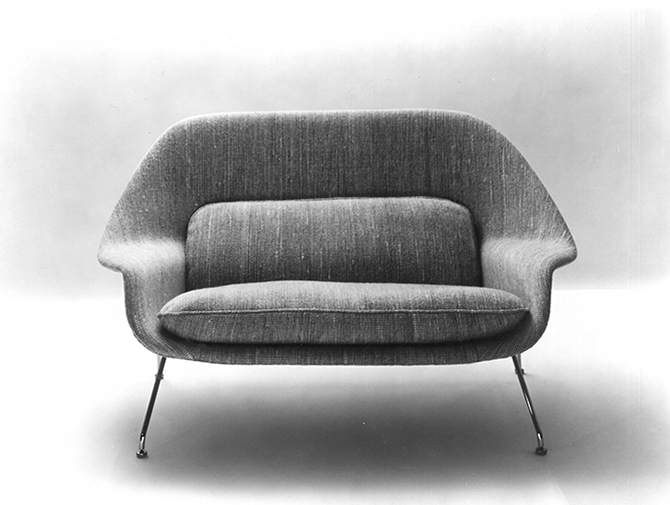 design within reach womb chair wheelchair clipart sofa eero saarinen settee for knoll at 1stdibs - thesofa
