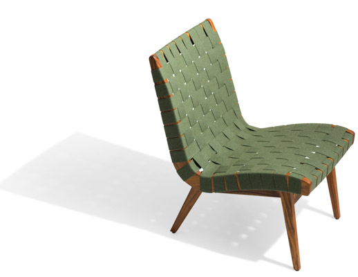 lounge outdoor chairs nicole miller home goods risom chair knoll fern sunbrella webbing teak frame