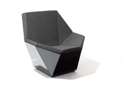 black leather swivel lounge chair modern rolling dining chairs washington prism™ and ottoman by david adjaye | knoll