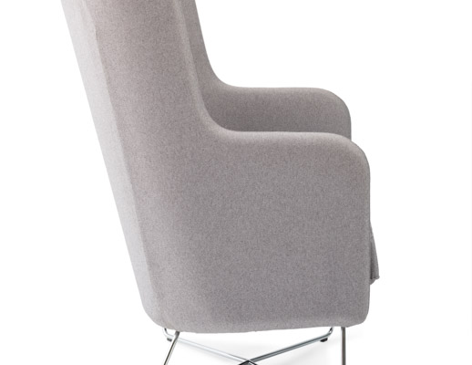 office club chairs glider chair for sale rockwell unscripted high back lounge knoll highback wire base