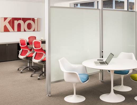 tulip table and chairs swing chair stand price saarinen round knoll activity space with white arm