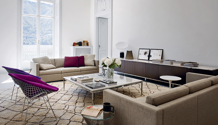 barcelona chair style couch loveseat and a half residential | market focus knoll