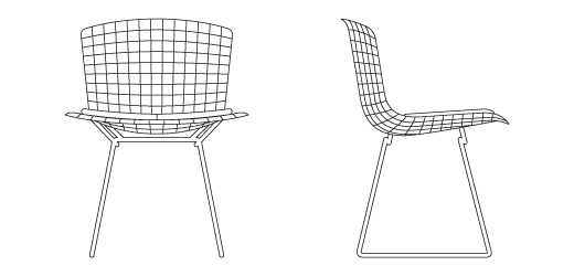 knoll bertoia chair back supports for chairs side |