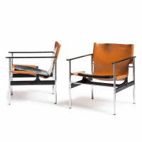 Charles Pollock Model 657 Arm Chairs