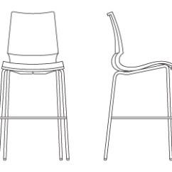 Swivel Chair Armless Proper Posture Desk Gigi® Barstool | Knoll