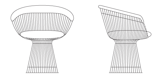 circular lounge chair that converts to a twin bed platner arm | knoll