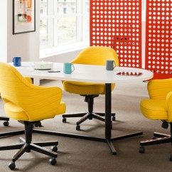 Serie 142 Chair Kiosk Design Wicker Glider Antenna Y Base Tables Knoll Workspaces And Desks For The Open Plan Private Office By