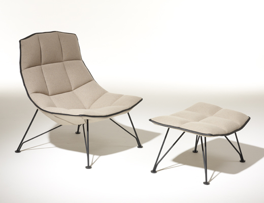 jehs laub lounge chair cochrane table and chairs knoll with wire base in white cornaro knolltextiles upholstery