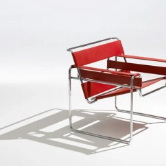 Wassily Chair Brown Leather Fabric Outdoor Chairs Knoll Breuer With Simply Red Spinneybeck Belting