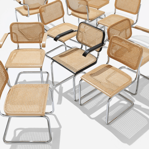 marcel breuer cesca chair with armrests white wicker arms knoll
