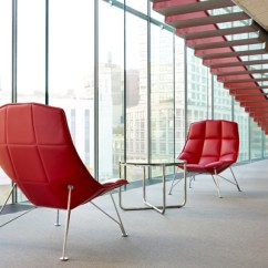 Jehs Laub Lounge Chair Stool Hunting Knoll In Red With Mr Table