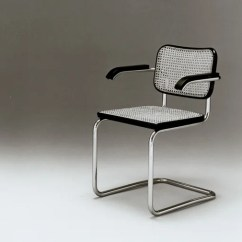 Marcel Breuer Cesca Chair With Armrests Wheel Basketball Arms Knoll Tubular Steel Furniture Bauhaus History