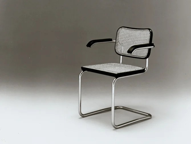 steel chair for office formal dining chairs cesca with arms knoll marcel breuer tubular furniture bauhaus history
