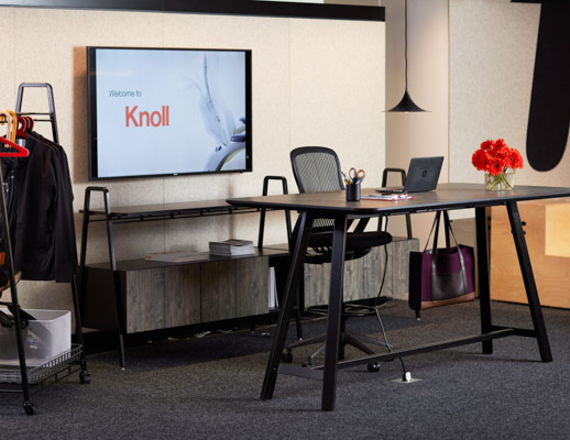 tall swivel chair modern rocking for nursery rockwell unscripted credenza and console | knoll
