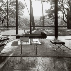 Mies Van Der Rohe Barcelona Chair Dining End Chairs Knoll Ludwig S Collection In Philip Johnson Glass House New Canaan