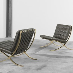 Barcelona Chair Used Folding Table And Chairs Design Deconstructed The Knoll Inspiration In Bronze C 1970s
