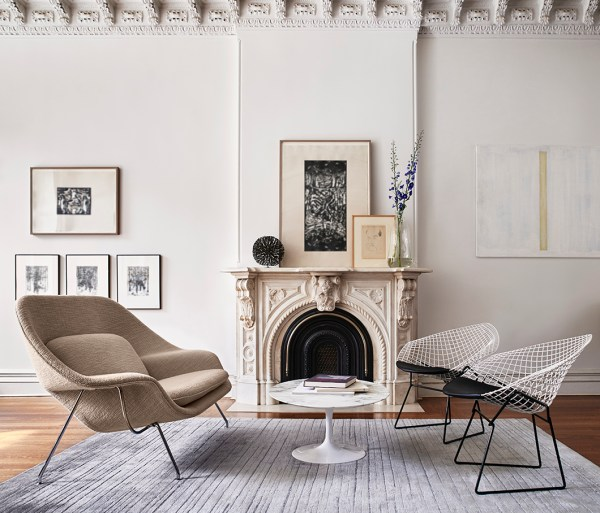 Bertoia Diamond Chairs Living Room