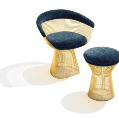 Steel Chair Gold Slipper Slipcover Platner Inspiration Knoll The Warren Collection In Plated