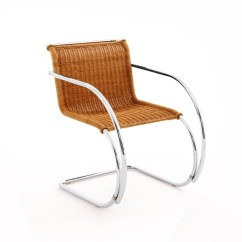 Chair With Arms Grey Folding Covers Mr Knoll Rattan Side