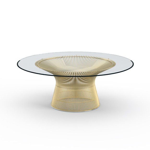platner coffee table in gold | knoll