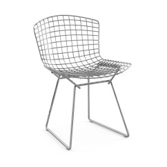 Bertoia Side Chair Upholstered Toddler Canada Without Seat Pad Knoll