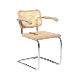 Marcel Breuer Cesca Chair With Armrests Old Wooden High Parts Arms Knoll