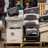 Stacks of e-waste
