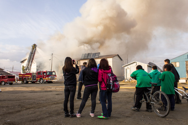 Watching the Nome apartment fire