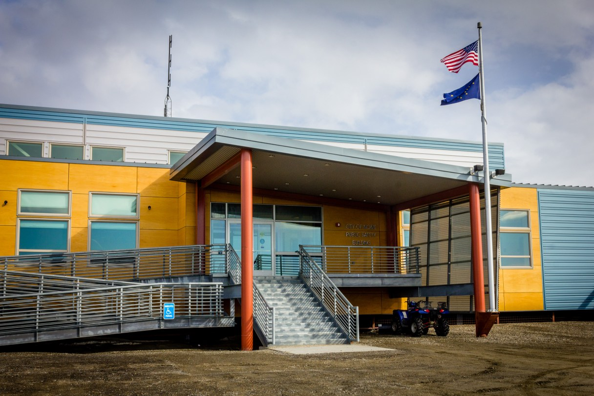 Nome's Public Safety Building in April 2014, where the Nome Volunteer Ambulance Department is currently housed. Photo: Matthew F. Smith, KNOM file.