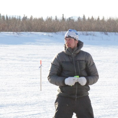 Brent Sass in White Mountain during 2016 Iditarod