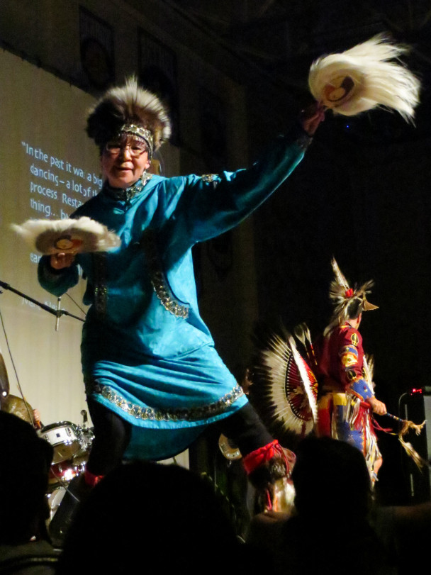 Originally from Kotlik, Carol dances with the group Broken Walls. (Photo: Maddie Winchester, KNOM)
