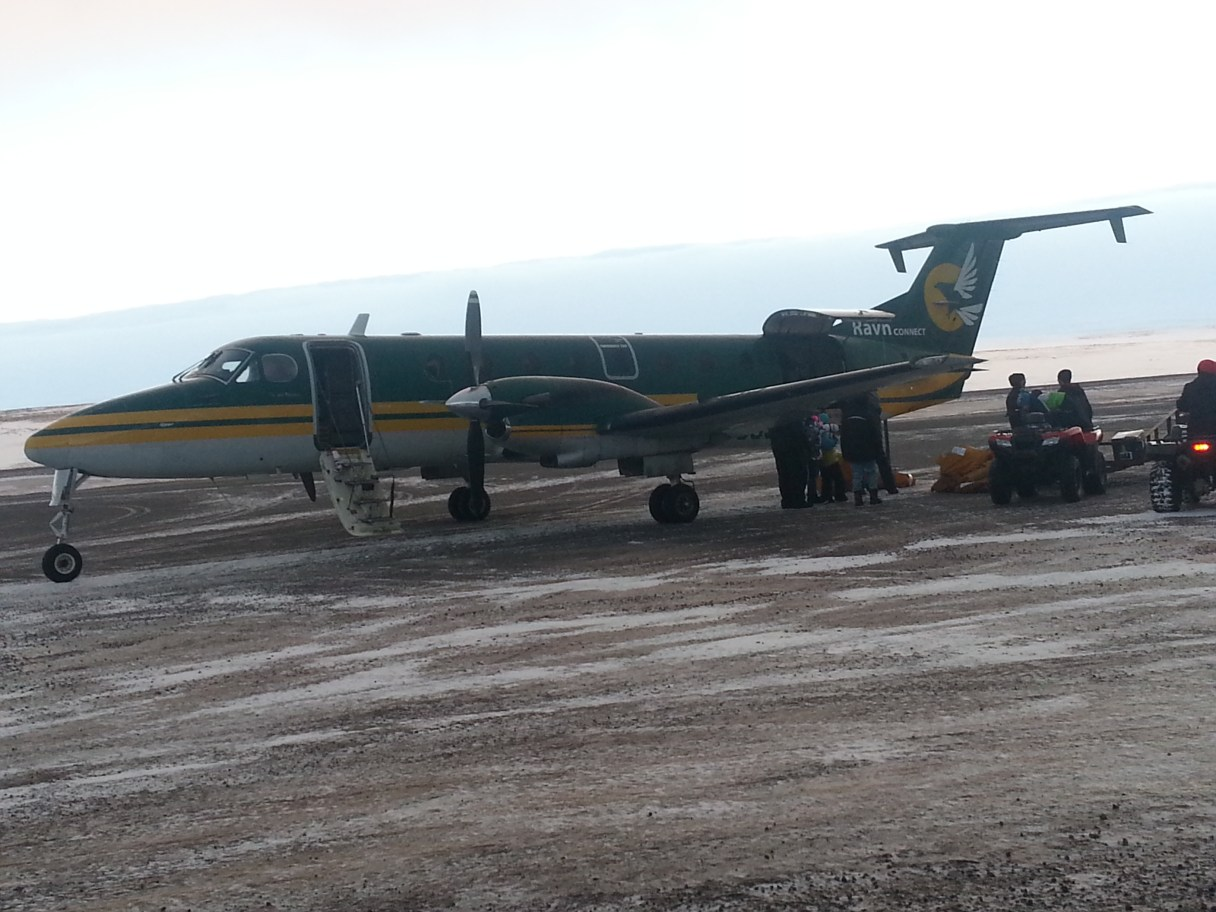 Ravn passengers can now fly directly to Kotzebue from Anchorage and back. Photo Credit: Davis Hovey, KNOM (2017).
