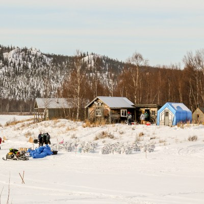 Landscape of the remote Iditarod checkpoint
