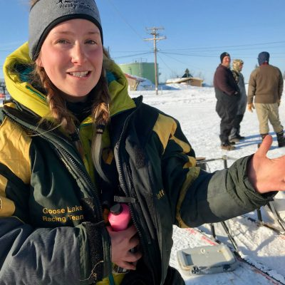 Ellen King in Ambler on the 2018 Kobuk 440 trail (Photo: Zoe Grueskin, KNOM)