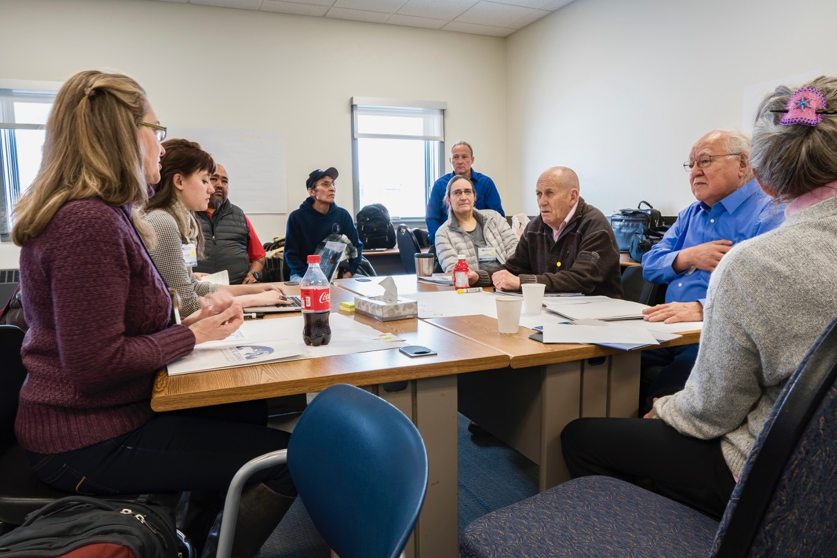 Leaders of Arctic communities discuss possible scenarios for the future of the region at the Arctic Futures conference (Photo: Kenton Media, used with permission)