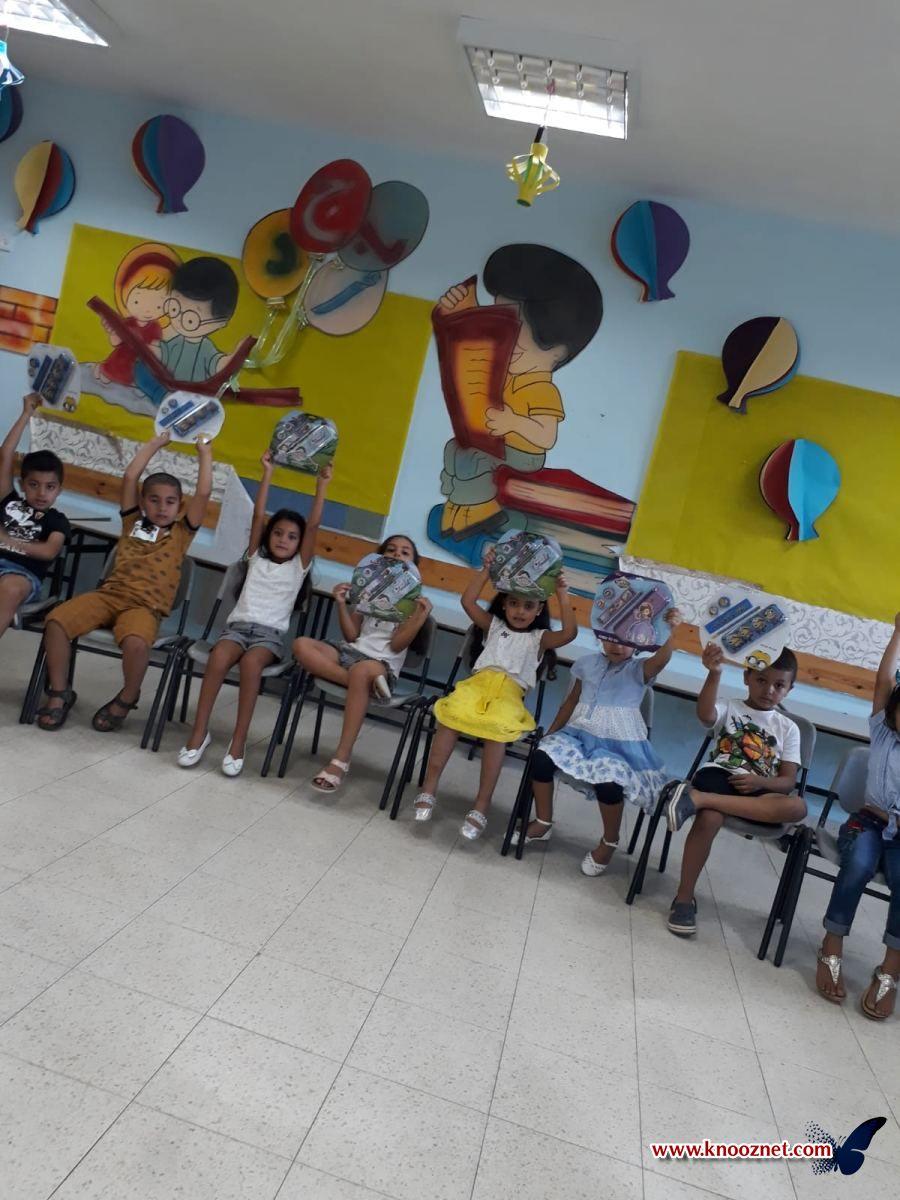 إستقبال طلاب الصف الاول في المدرسة الابتدائية أجيال الطيبه