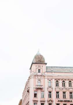Ballet pink building in Budapest