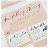 Ballet pink wedding stationery and inspiration