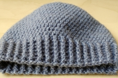Ribbedenim Beanie for Kids