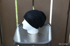 Men's Slouch Black Beanie