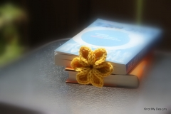 Sunny Petal Flower Bookmark