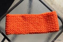 Pumpkin Loom Knit Cowl