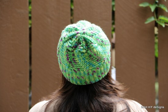 Winter/Fall Seasoned Crochet Pista Twisted Hat Free Pattern for an adult woman - kNot mY deSigns