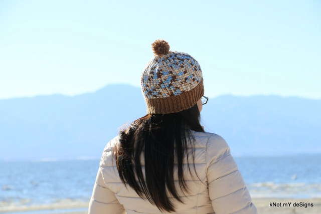 Winter / Fall Seasoned Crochet Trinity Ombre Hat Free Pattern for an adult woman - kNot mY deSigns